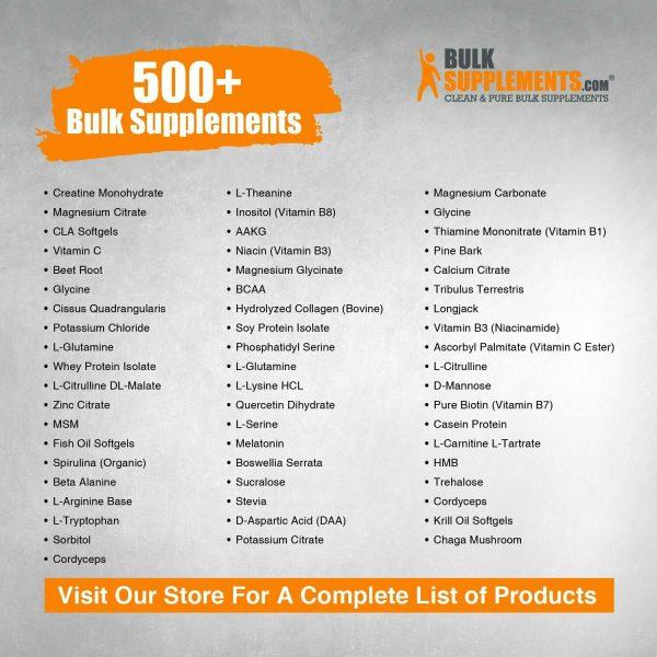 BulkSupplements.com Gamma Aminobutyric Acid (GABA) 750mg Powder - Focus Aid 8