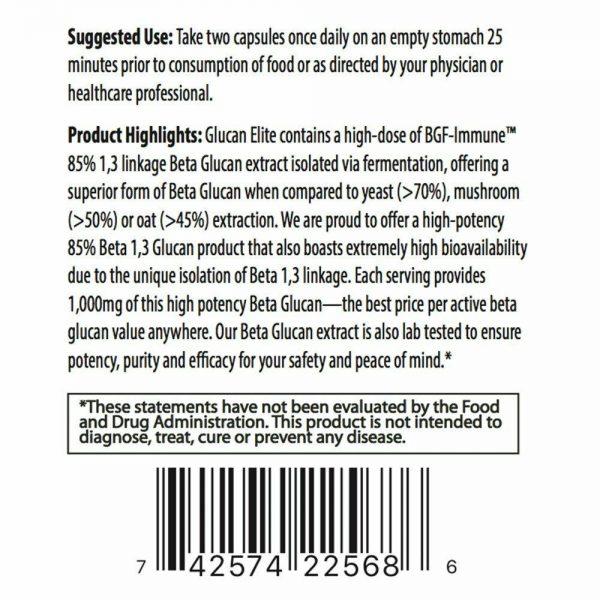 Glucan Elite - 1,3D Beta Glucan 85% - 2 bottles 2