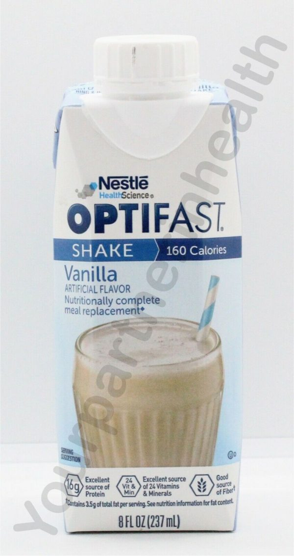 OPTIFAST 800 READY-TO-DRINK SHAKE - 1 CASE - VANILLA - 24 SERVINGS