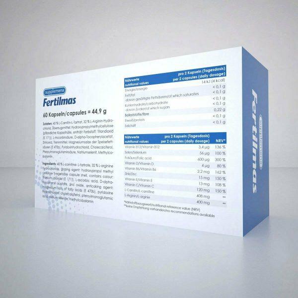 Supplemena Fertilmas Male Fertility Supplement - 2 Month Supply - 2x 60 Capsules 4
