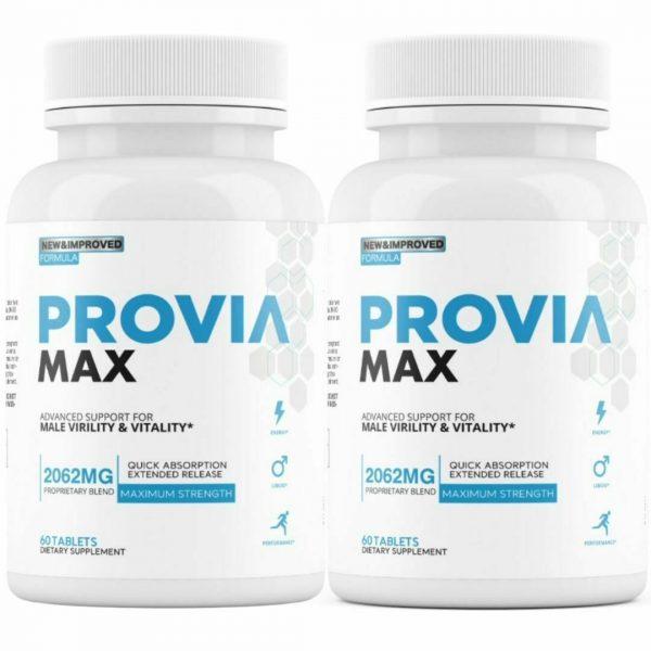 2 Bottles Provia Max - Male Virility & Vitality Support Enhancement PROVIA MAX
