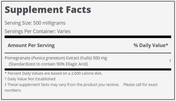 Pomegranate Extract (90% Ellagic Acid) Powder Lab Tested PureBulk (Variations) 1