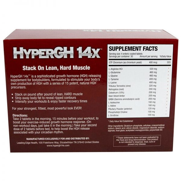 1 HyperGH 14x Box (Tablets) + 1 Bottle (Spray) Combo Muscle Growth Supplement 4