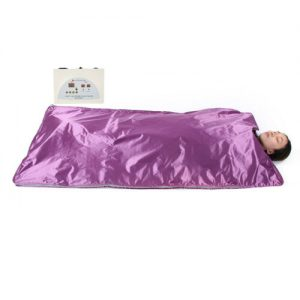 110V Far Infrared Sauna Heating Blanket Body Shape Slimming Fitness Machine Purp 1