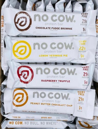 D's Naturals NO COW Dairy - GF - Vegan Protein Bars ~ YOU PICK QUANTITY/FLAVOR