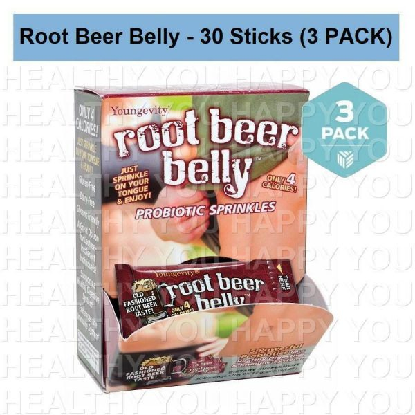 Root Beer Belly - 30 Count Box (3 PACK) Youngevity Sticks