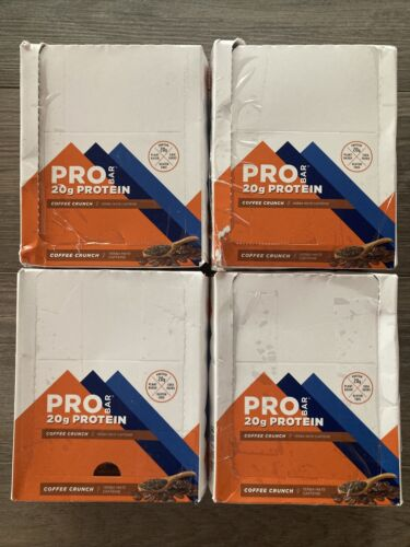 4 boxes/48 bars PROBAR Protein Bar Coffee Crunch 20g protein, exp 2/10/2022