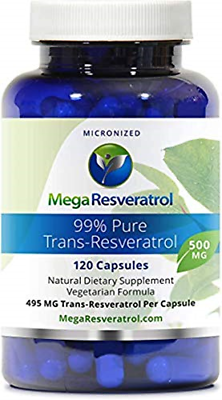 Mega Resveratrol, Pharmaceutical Grade,99% Pure, Isolate, Micronized 120 Veggie