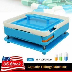100Holes Capsule Machine Filler Size 000 00 0 Manual Filling Machine Tamper Tool