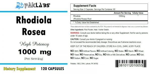 Rhodiola Rosea 1000 mg High Potency 120 Capsules Big Bottle 1000 mg  USA SHIP 1
