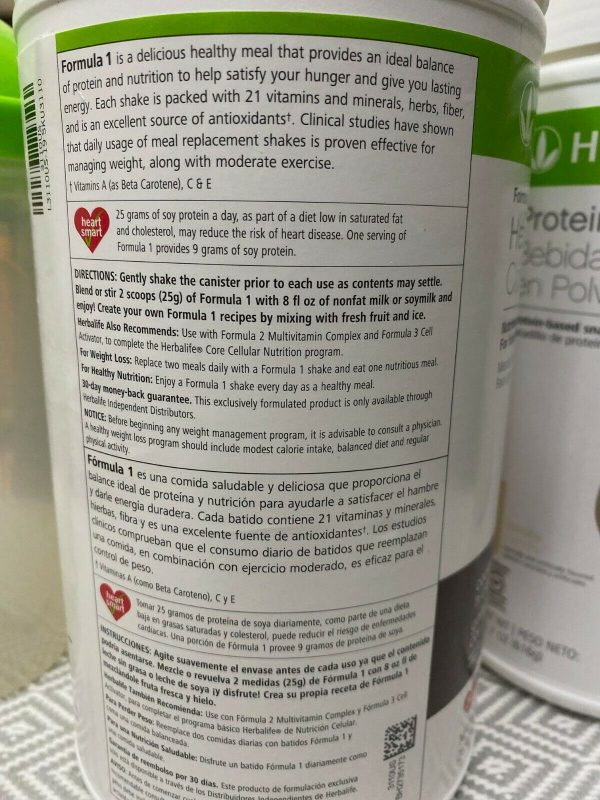 HERBALIFE FORMULA 1 HEALTHY MEAL & PROTEIN DRINK MIX (ALL FLAVORS)  free shippin 3