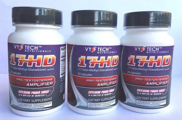 Vyotech 17 HD 30 Caps Muscle Builder Muscle Building Strength Booster 3 Bottles
