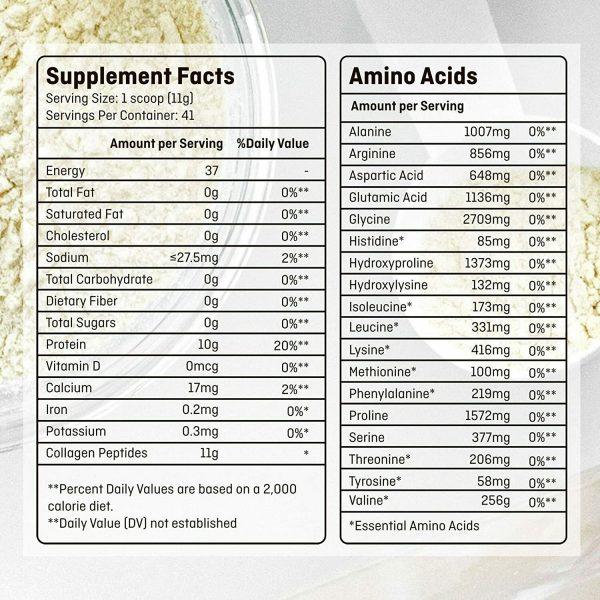 Collagen Peptides Powder for Women Hydrolyzed Collagen Powder Types I, III  8