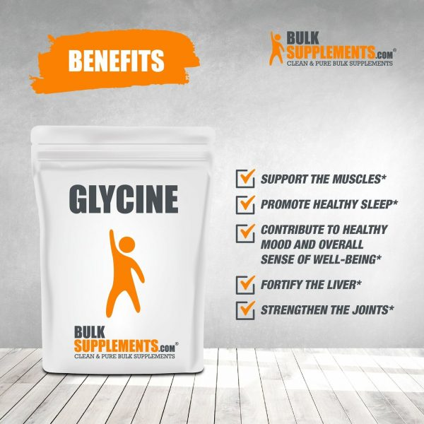 BulkSupplements.com Glycine - Sleep Supplement - Amino Acids Supplement 4