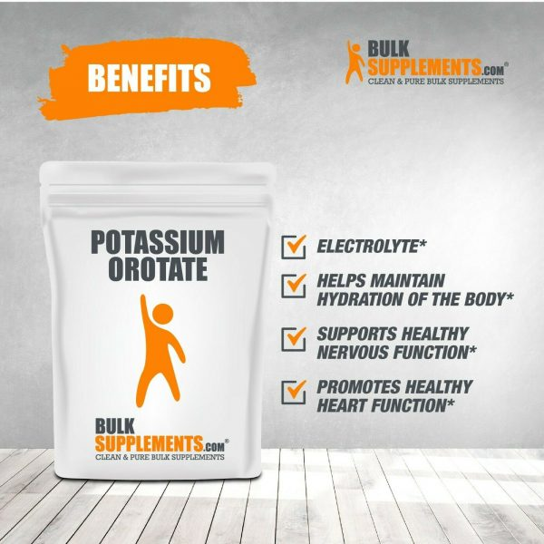 BulkSupplements.com Potassium Orotate - Fasting and Electrolyte Supplements 3
