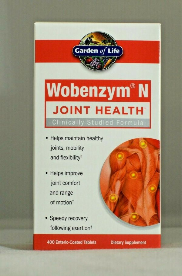 Wobenzym N 400 Garden of Life Inflammation Arthritis Joint Support
