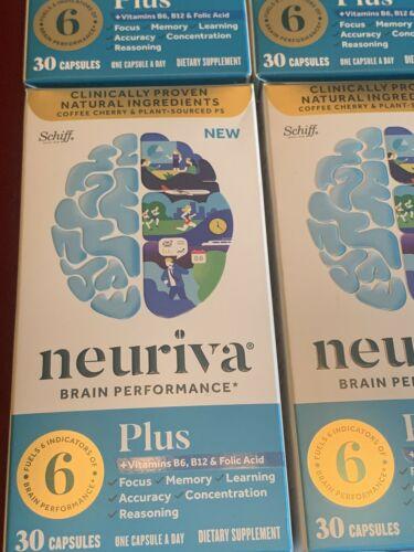 4 BOXES Schiff Neuriva Plus Fast-Acting Brain Performance 30 ct X4=120 EXP 2022 1