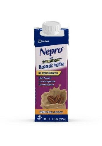 Nepro Butter Pecan, 8 Ounce Recloseable Carton, Abbott 64798 - Case of 24
