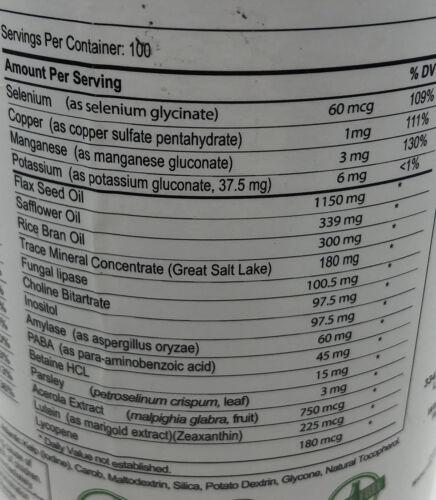 Biotek Bio35 Vitamin Trace Mineral Omega Oils 300 softgels **SEALED** Exp 11/22 3
