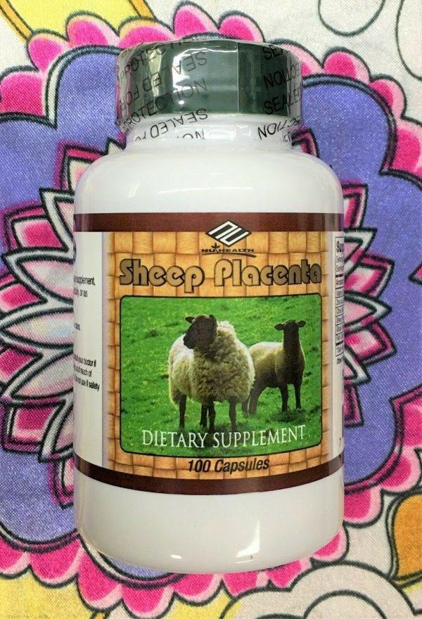 Nu-Health Sheep Placenta Complex 100 Capsules Dietary Supplement Pack of 8. USA 2
