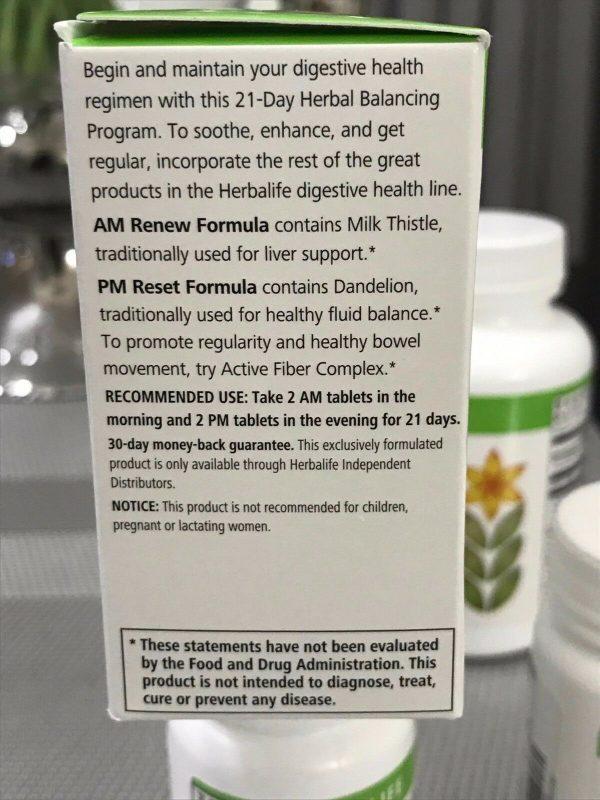 HERBALIFE Digestive Health Program, Herbal Aloe, 21 Day Balancin - Active Fiber 6