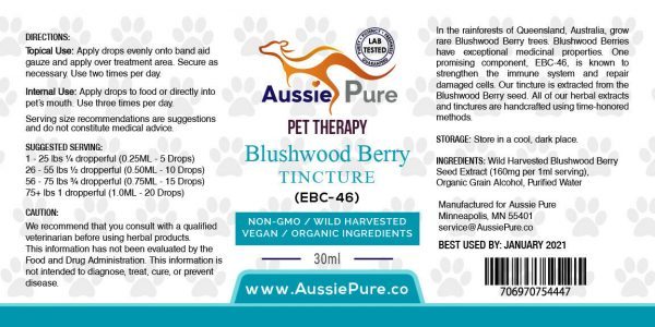 Aussie Pure Pet Therapy Blushwood Berry 30ML - Tumor Treatment - Dogs and Cats 3