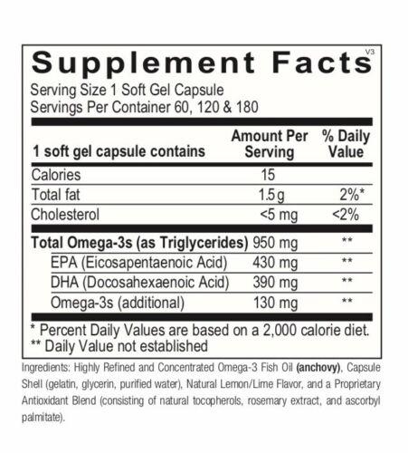 Ortho Molecular Orthomega 820 180 Soft Gel Capsules Exp. 11/22 FRESHEST & FAST! 1