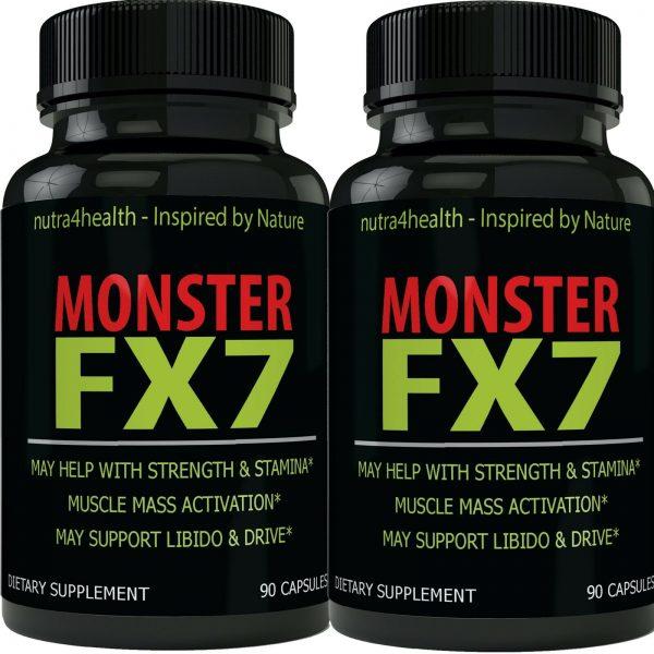 Monster FX7 Male Enhancement 2 Bottle Pack Supplement Advanced Enhancing Pills