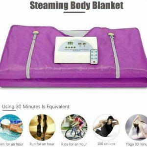110V Sauna Blanket 2 Zone Digital Far-Infrared (FIR) Oxford Heat Therapy Blanket