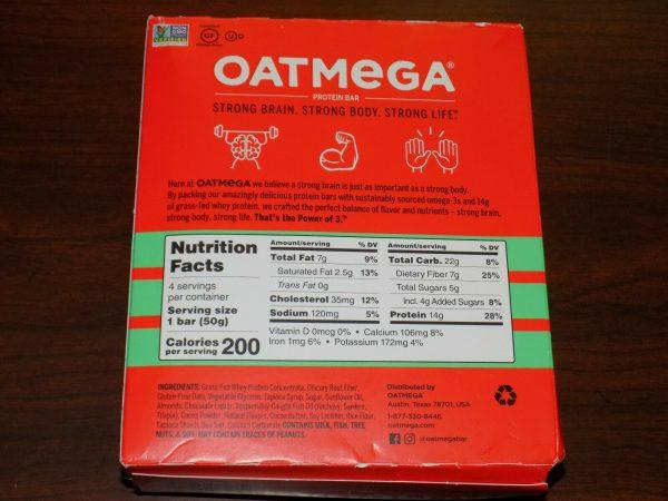 84 OatMega Protein Bars 3 Flavors Vanilla Almond, Choc Mint & Choc Peanut 09/21+ 6