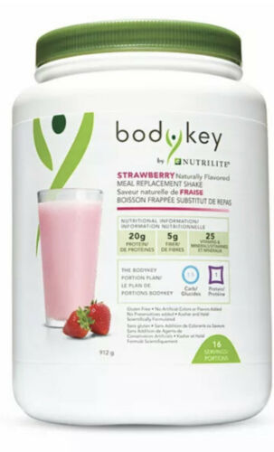 Amway BodyKey by Nutrilite™ Strawberry Meal Replacement Shake Mix 16 Serving NEW
