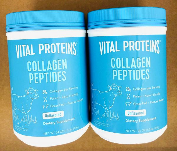 Vital Proteins Collagen Peptides - 24 oz, Unflavored (Pack of 2) 48oz