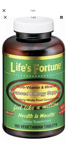2 Pack Life's Fortune Multi Vitamin Mineral Natural Energy 180 same day ship 1