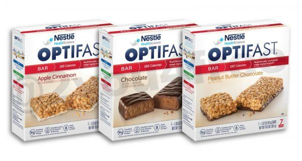 OPTIFAST® BARS   CHOCOLATE, APPLE CINNAMON, or PEANUT BUTTER   6 BOXES   FRESH
