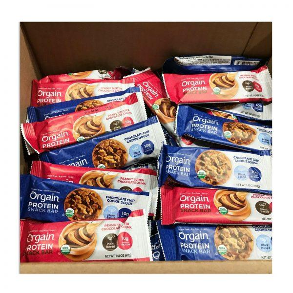 144 Orgain Protein Snack Bar Organic 1.41oz Plant Based Gluten Free Best By 4/21 5