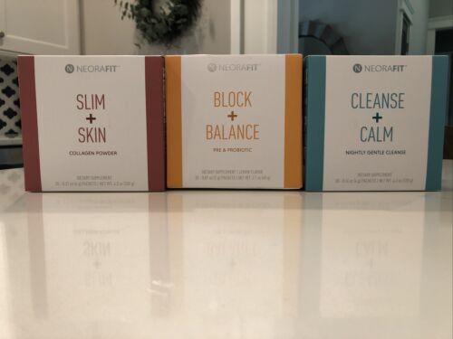 Neora Neorafit Slim Skin/Block Balance/Cleanse Calm Vegan Gluten soy free nonGMO
