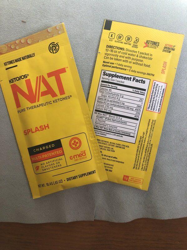Keto Os Nat Splash Charged 20 Servings Sealed Box Diet Weight Pruvit 6/22 1