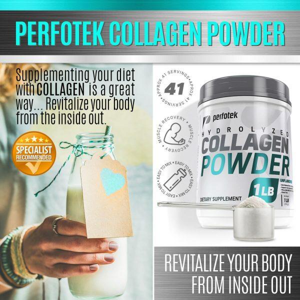 Collagen Powder Premium Peptides Hydrolyzed Anti-Aging Organic Protein 4x 1LB 7