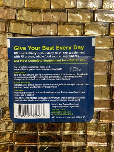 17 - 12g Individual Packets Athletic Greens Ultimate Daily Whole Food NEW NO BOX 2