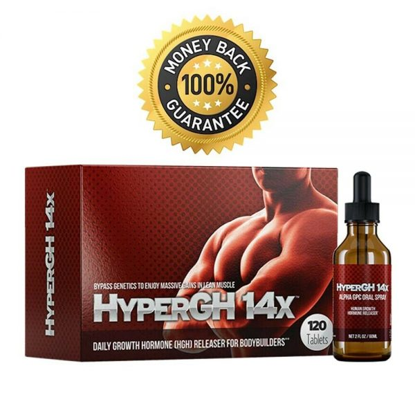 1 HyperGH 14x Box (Tablets) + 1 Bottle (Spray) Combo Muscle Growth Supplement 2
