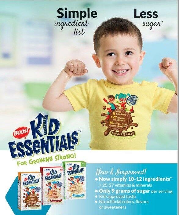 Boost Kid Essentials w/ Fiber 1.5 Cal, Vanilla Vortex, 8 Ounce - Case of 27 1