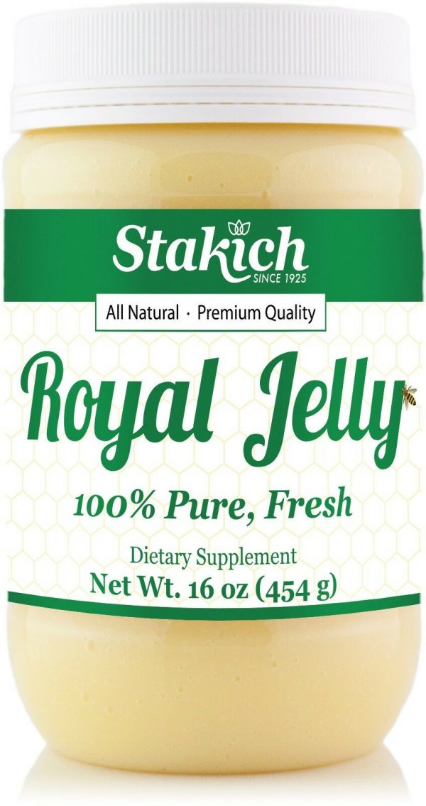 1 lb (16 oz) PURE FRESH ROYAL JELLY 100% NATURAL PREMIUM QUALITY BEE 453,600mg