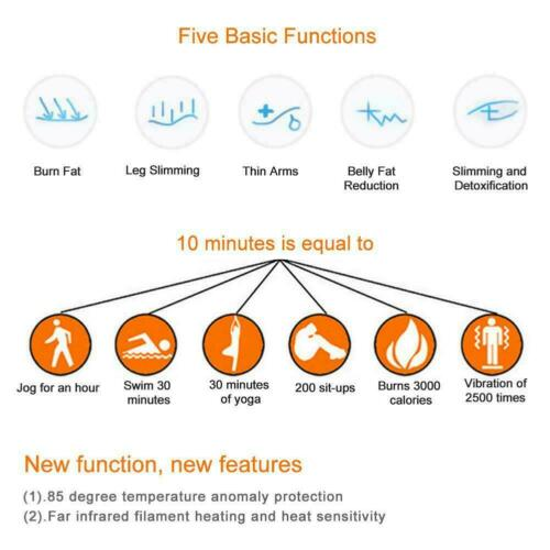 Gift Far Infrared Sauna Heating Blanket Body Shape Slimming Fitness Machine US 4