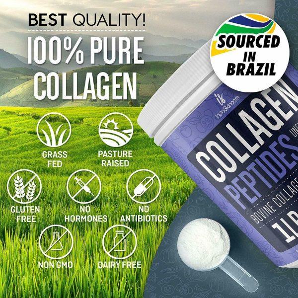 Collagen Peptides Powder for Women Hydrolyzed Collagen Powder Types I, III  5