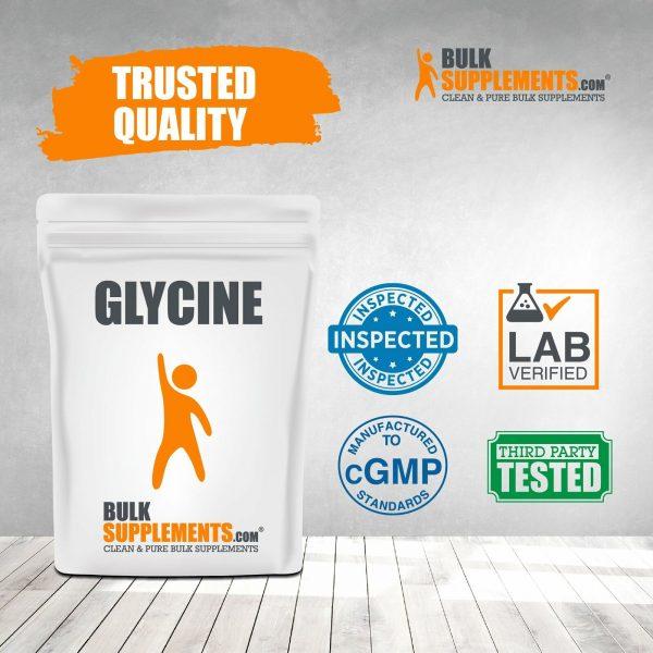 BulkSupplements.com Glycine - Sleep Supplement - Amino Acids Supplement 5