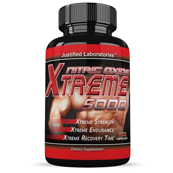 Xtreme 5000 Extreme Arginine Nitric Oxide Strength Endurance Recovery 10 Bottles 1