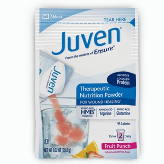 Juven Fruit Punch Arginine/Glutamine Supplement Powder, 0.85 Ounce - Box of 30