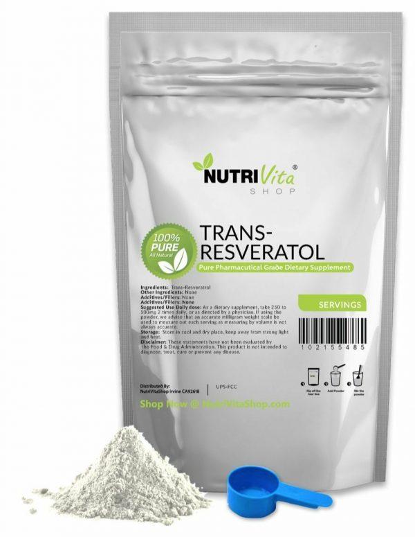 2X 8 Months Supply 100% PURE Trans Resveratrol Anti-Aging Powder KOSHER/USP