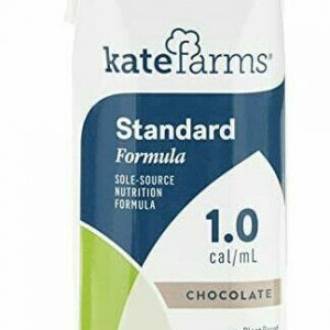 48 pk Kate Farms Standard 1.0 Chocolate Oral & Tube Feeding Formula. 11oz
