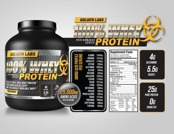 Goliath labs 100% Whey Protein Powder 10LB Isolate/blend protein 136 servings